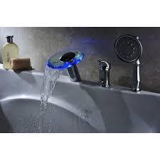 deck mount tub faucet hand shower deck design and ideas