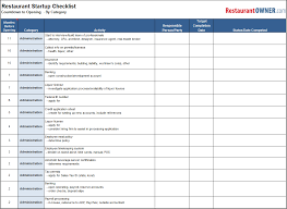 checklist essentials setting up house restaurant checklists