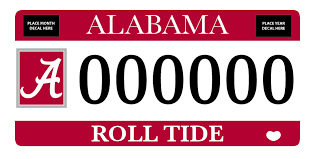 of alabama alumni car tag ride with the tide alumni ua edu the of alabama