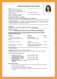 standard format of resume marketing resume examples entry level