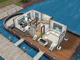 Houseboat Floor Plans by White Inspired Houseboat Thesims Simsfreeplay Housedesign