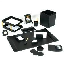 Desk Sets For Office Leather Desk Accessories Desk Pad Leather Icedteafairy Club