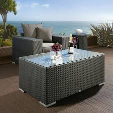 rattan side table outdoor black rattan outdoor coffee table outdoor designs