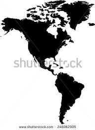 map of and south america black and white vector map south america stock vector 28942033