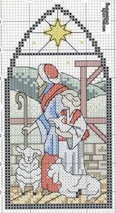 merry christmas stained glass embroidery glass