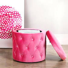 ottoman pink storage ottoman canada polka dots square foldable