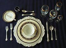 table setting western style table setting wikipedia