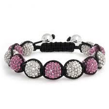 shamballa bracelet images Shamballa inspired bracelet fuchsia pink crystal beads 12mm jpg
