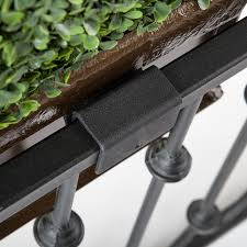 balcony privacy plants in black window box hooks u0026 lattice