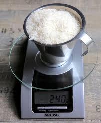 pese cuisine pèse une tasse de riz