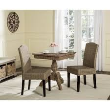 Woven Dining Room Chairs Safavieh Rural Woven Dining Odette White Washed Wicker Dining