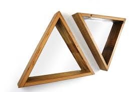 triangle framed mirror reclaimed wood frame modern home