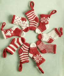 knit christmas free knitting patterns knitted mini christmas