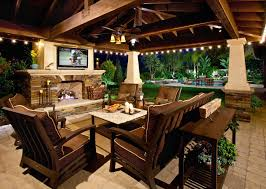 Outside Kitchen Ideas Outdoor Kitchens Outdoor Kitchen Bar Chairs Countertop Tv