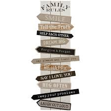 Family House Rules by Buy Family Rules Wall Art Wall Art The Range Decorations For