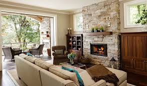 Stacked Stone Around Fireplace by How To Install Faux Stone Around A Fireplace Home Design Ideas