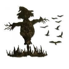 tim holtz halloween dies sizzix thinlits die set by tim holtz scarecrow