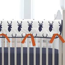 Deer Mobile For Crib Navy Deer Woodland Crib Bedding Carousel Designs