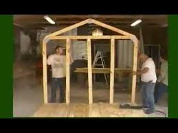 How To Build A Backyard Storage Shed by How To Build A Storage Shed Frame Youtube