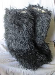 s yeti boots s pajar black faux fur shearling lined yeti boots sz 8 9 m