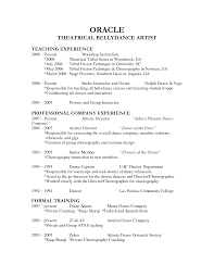 Ballet Resume Sample by Ballet Teacher Resume Resume For Your Job Application
