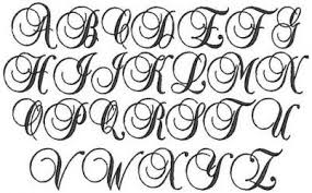 fancy calligraphy fonts alphabet