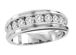 mens white gold diamond wedding bands mens diamond wedding band ebay