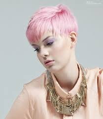 short haircuts above ears pink above the ears short hair with a dip in the bangs