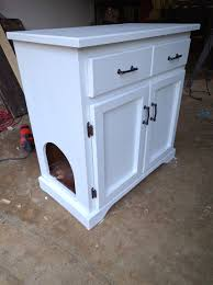 Diy Cabinets by Upgraded Thrift Store Cabinet Cleverly Hides Cat U0027s Litter Box