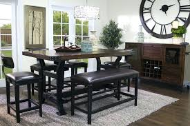 counter height table sets with bench seating counter height bench