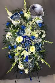flower delivery dallas dallas cowboys standing easel spray flower delivery dallas tx