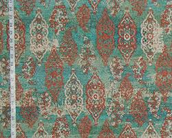 Toile Rugs Blue Green Oriental Rug Fabric Ombred Aqua Upholstery From Brick