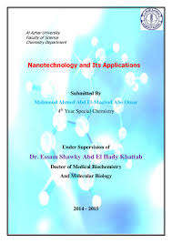 nanotechnology and its application