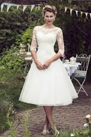 50 s style wedding dresses tea length bridal and 50 s style wedding dresses brighton