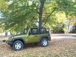 rescue green jeep rubicon tops off and half door pics lets see em