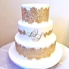 wedding cake gold gold wedding cake gold wedding cake topper initials