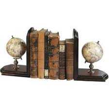 vintage globe bookends travel decor by pluckedvintage on etsy