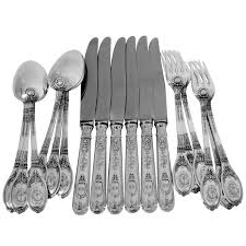 lapparra fabulous french sterling silver dinner flatware 18 pc