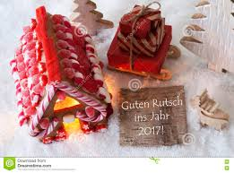 gingerbread house sled snow guten rutsch 2017 means new year