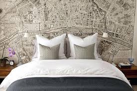 la chambre ville papier peint original chambre plan de la ville en guise de papier