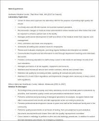 clinical laboratory scientist resume resume resume example