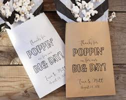popcorn favor bags thanks for popping by popcorn bags wedding favor bag popcorn