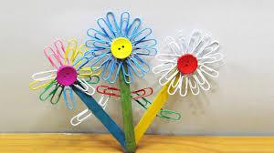 Stick Paper Popsicle Stick Craft Diy Paper Clip Flowers Easy U0026 Simple