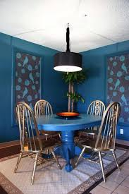 blue painted dining table blue paint room ideas living color ideapaint dining table idolza