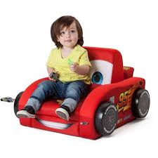 Disney Cars Armchair Delta Disney Cars Deluxe Upholstered Car Shaped Chair Red