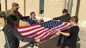 Flag Etiquette Fort Hood Soldiers Teach Flag Etiquette At Local Elementary