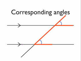 angles in parallel lines corresponding angles youtube