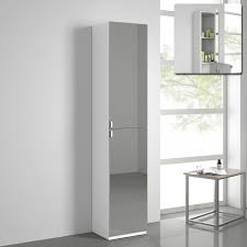 decor narrow tall storage cabinet in white for bathroom furniture
