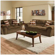 Simmons Verona Chocolate Chenille Living Room Collection At Big - Big lots living room furniture