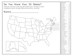 Printable Blank Us Map by 4 Best Images Of United States Map Worksheets Printable 50